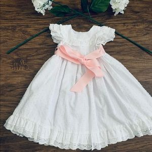 Girls Lace Dress with Bow Detail Size 2T